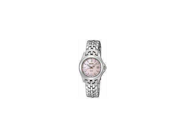 Seiko Steel Bracelet Pink Mother-of-Pearl Dial Women's Watch #SXDB87