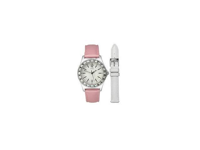 Guess Box Sets Sweet+Diminutive Crystal Silver Dial Women's watch #U95176L1