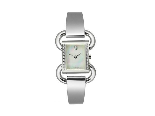 Movado Linio Steel Bangle Mother-of-pearl Dial Women's watch #606473