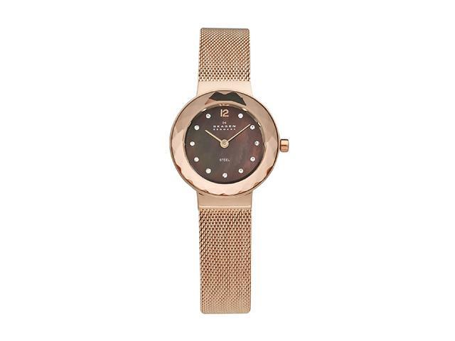 Skagen Rose-gold Steel Mesh Women's watch #456SRR1