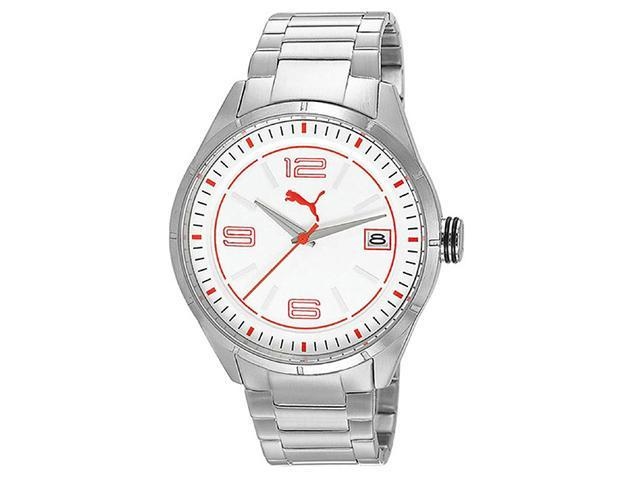 Puma Active - Silver White Steel Mens watch #PU102611004