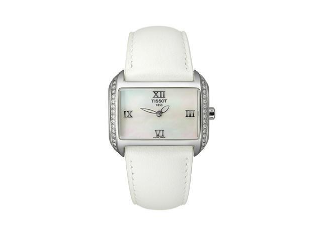 Tissot T-Wave White Mother-of-Pearl Dial Womens Watch #T023.309.16.113.01