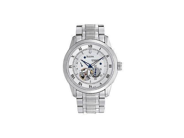 Bulova Automatic Silver-Tone Dial Men's Watch #96A118