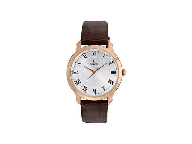 Bulova Dress Croco Leather Men's watch #97A107