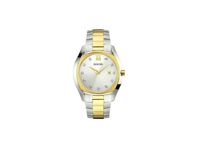 Bulova Diamond Two-Tone Stainless Steel Mens watch #98D125