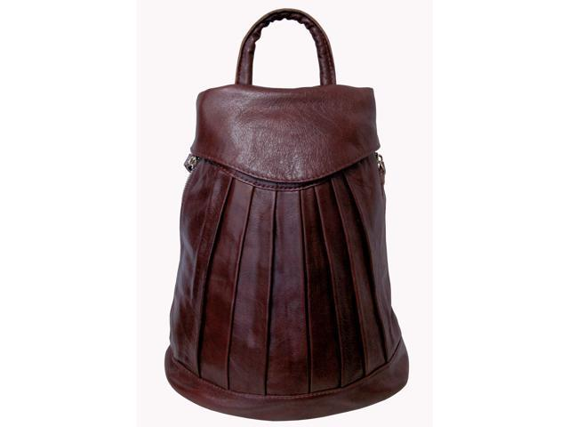 Amerileather Pleated Mini-Backpack (#1517-5)