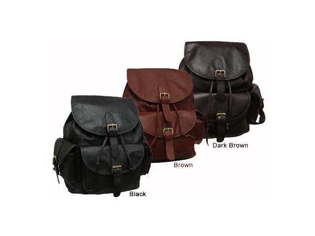 Amerileather Urban Buckle-Flap Leather Backpack (#1822-024)