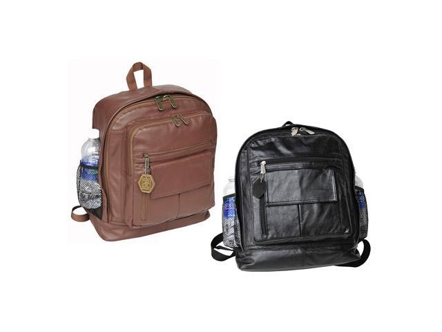 Large Traditional Leather Backpack (#1515-02)