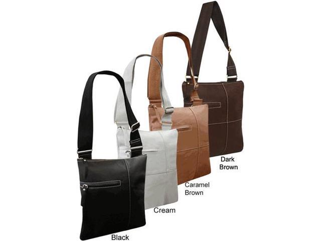 Slim Cross-Body Leather Messenger Bag(#701-0349)