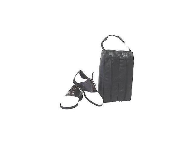 Black Leather Golf Shoe Bag (#725-0)