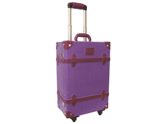 "Amerileather Old Fashioned Chest Styled Violet 20"" Rolling Luggage (#81-8)"