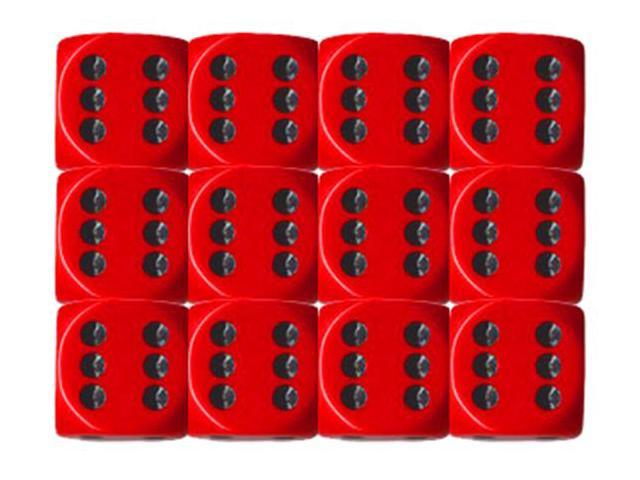 6-sided Dice: Opaque Red