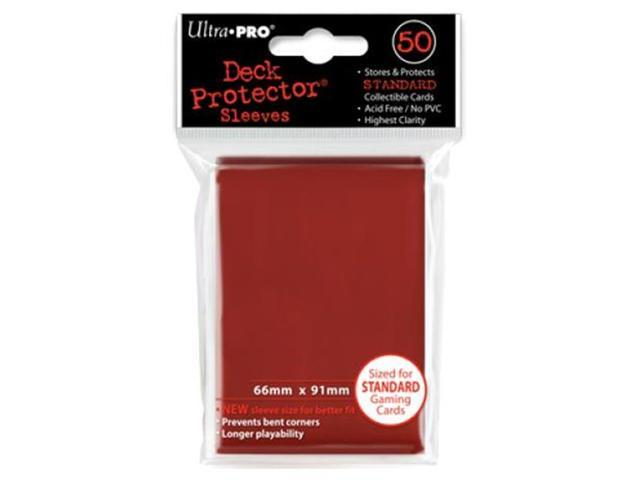 Deck Protector Sleeves: 50 Red