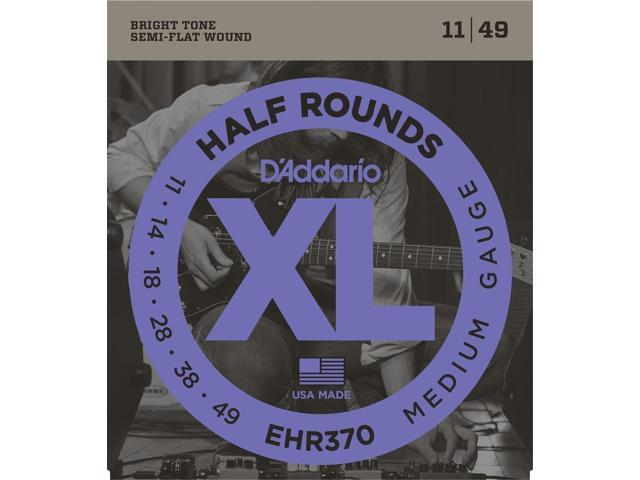 D'Addario EHR370 Electric Guitar Strings - Half Round - Medium - 1 Set