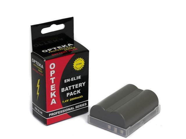 Opteka EN-EL3E 2000mAh Ultra High Capacity Li-ion Battery Pack for Nikon Digital SLR Cameras
