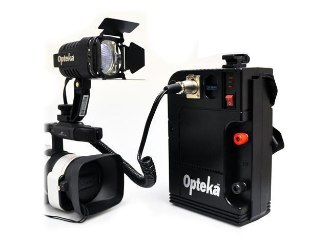 Opteka VL-100 100-Watt Professional Halogen Camcorder Video Light Kit with 12v Rechargeable Battery Pack