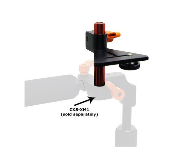 "Opteka CXS-XM5 1/4"" Thread Monitor & Accessory Rod Mount for 15mm Rail System DSLR Rigs"