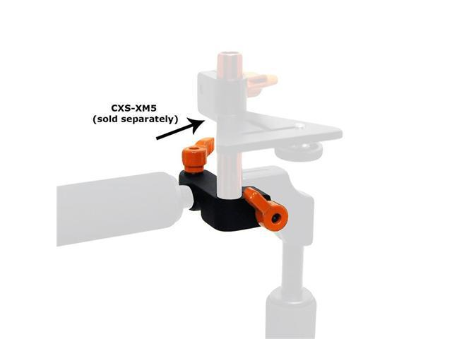 Opteka CXS-XM1 90 Degree Accessory Rod Mount Clamp for 15mm Rail System DSLR Rigs