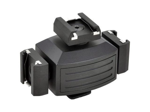 Opteka VB-30 Video Accessory Shoe Tripler Bracket for DSLR Cameras & Camcorders