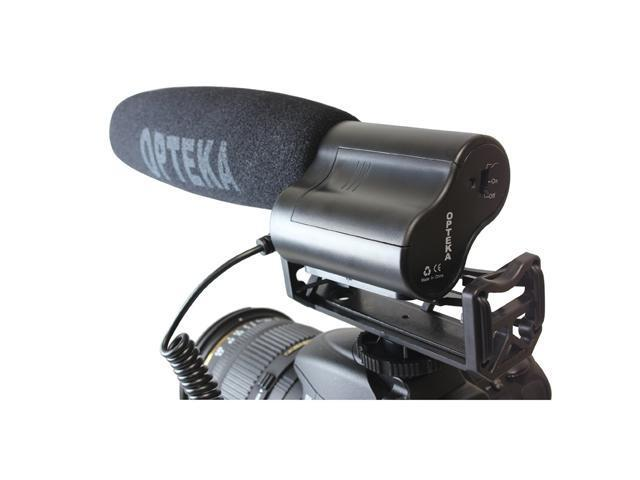 Opteka VM-100 Video Condenser Shotgun Microphone with Shock Mount and Fuzzy Windscreen for Digital SLR Cameras and Camcorders