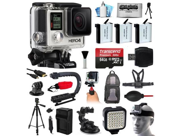 GoPro HERO4 Hero 4 Black Edition 4K Action Camera Camcorder with 64GB ...