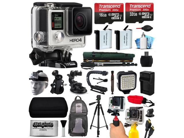 GoPro HERO4 Hero 4 Black Edition 4K Action Camera Camcorder with 2x ...