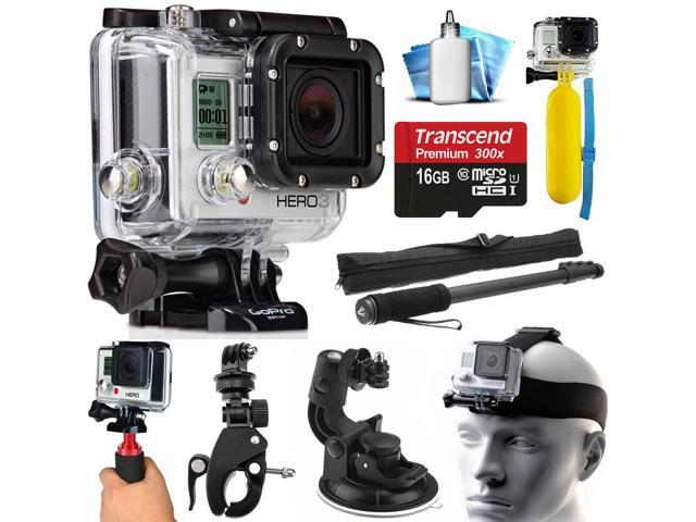 gopro hero3 hero 3 silver edition action camera camcorder with accessories bundle includes 16gb. Black Bedroom Furniture Sets. Home Design Ideas