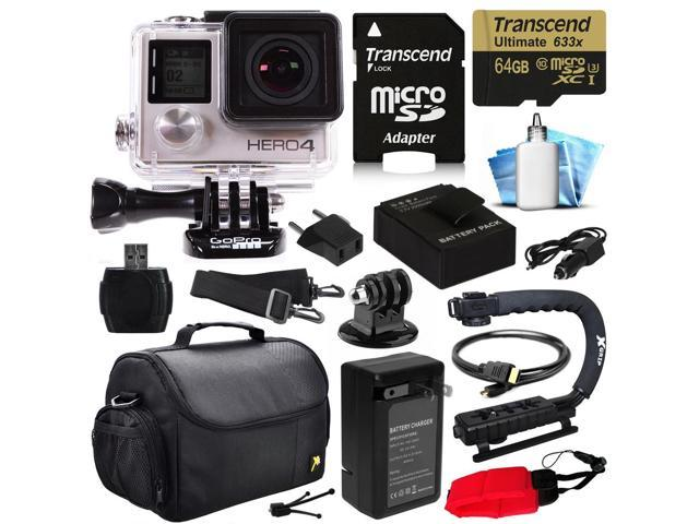 GoPro Hero 4 HERO4 Black Edition 4K Action Camera Camcorder with 64GB ...