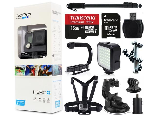 gopro hero camera camcorder chdhc 101 with 16gb microsd card selfie stic. Black Bedroom Furniture Sets. Home Design Ideas