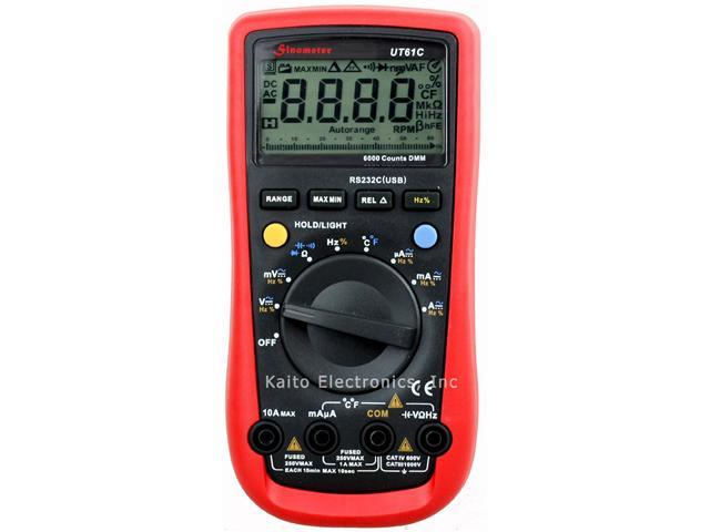 Sinometer UT61C PC RS232 Auto Range Digital Multimeter