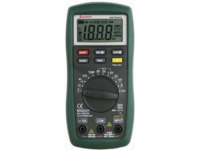 Sinometer MS8221 Digital Multimeter with Battery Tester