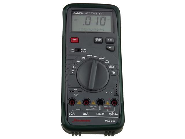 Sinometer MAS345 V/A/R Frequence Temp PC Computer RS232 Digital Multimeter