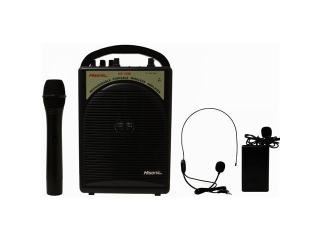 Hisonic HS122B-HL Rechargeable Portable PA System with Dual Microphones Black
