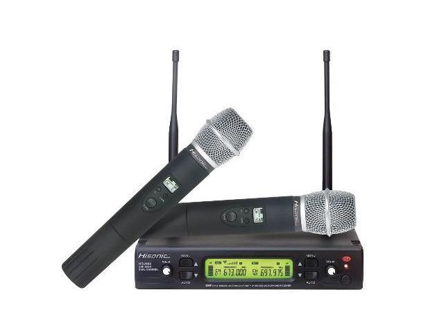 Hisonic HSU482H Dual UHF Wireless Microphone System