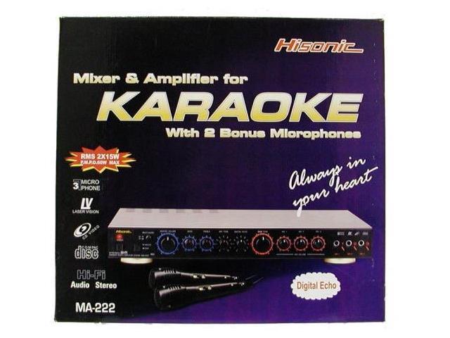 Hisonic MA222 60 Watts Karaoke Mixer Mixing Amplifier