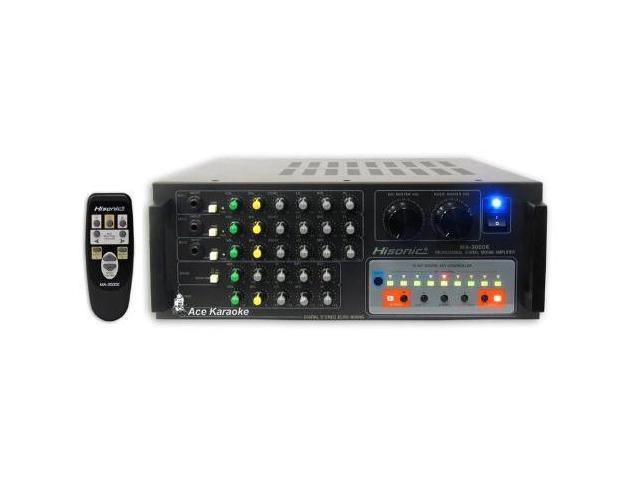 Hisonic MA3000K 600W Karaoke Power Mixing Amplifier