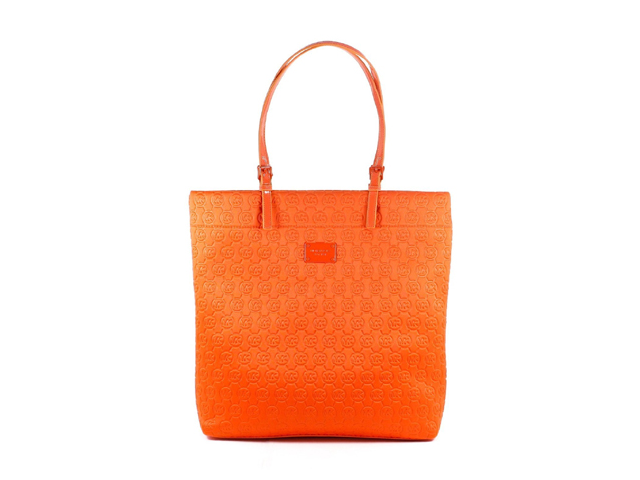 MICHAEL Michael Kors Jet Set Signature Logo Bag Tote Tangerine