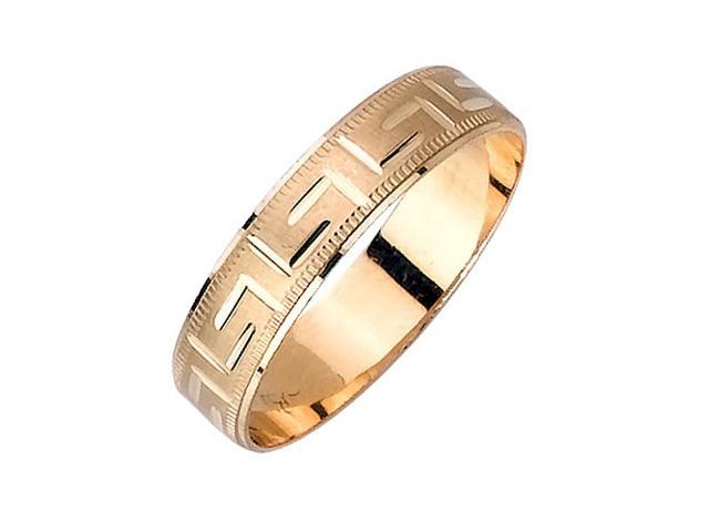 L For Love Pattern Fancy Women's 5 mm 14K Two Tone Gold Wedding Band