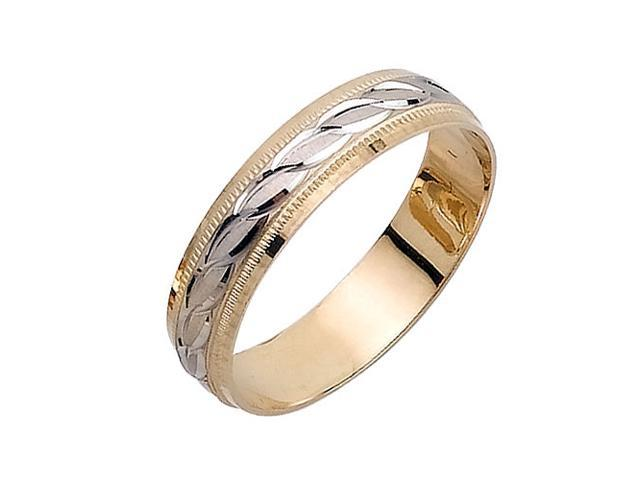 Infinty Links Fancy Women's 5 mm 14K Two Tone Gold Wedding Band