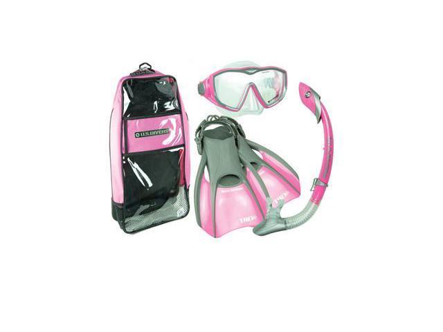 US Divers Diva LX Mask Fin Snorkel Set, Pink, Small | 5-8