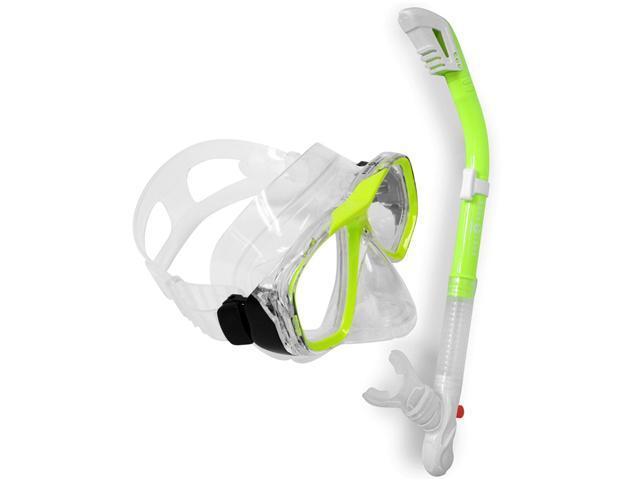 Aqualung Sport Scuba Snorkeling Purge Mask Dry Snorkel Set
