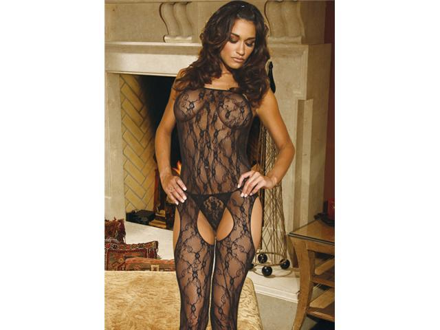 Lace Suspender Body Stocking