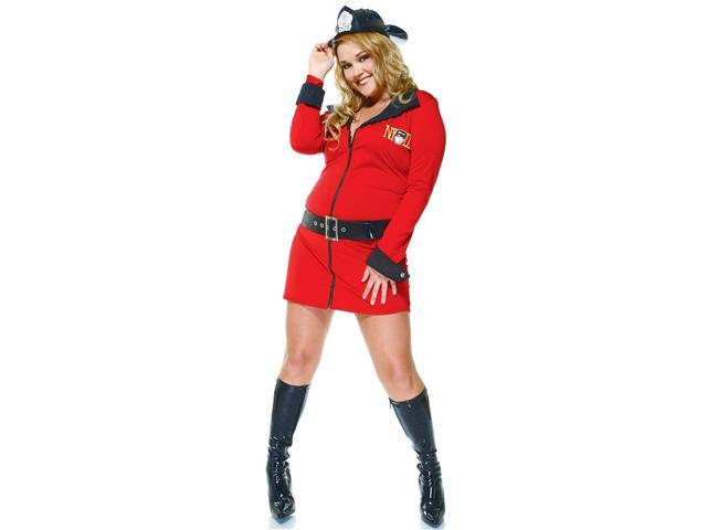 4Pc Fire Fighter Sexy Plus Size Holiday Costumes