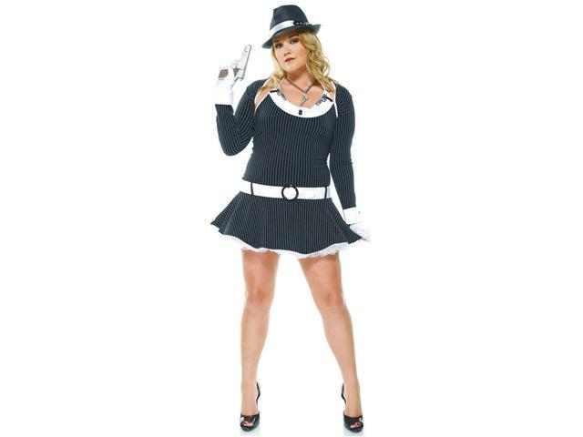 Bombshell Bugsy Gangster Girl Sexy Plus Size Holiday Costume