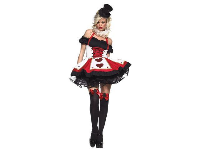 Playing Card Sexy Women's Queen of Hearts Costume