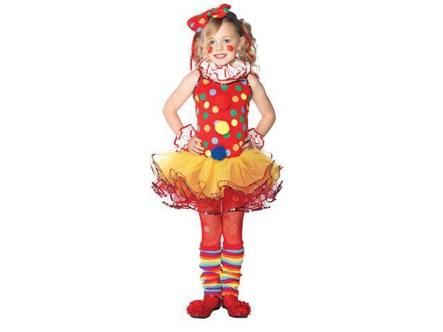 Circus Clown Girl's Costume