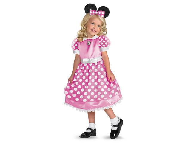Clubhouse Minnie Mouse (Pink) Toddler/Child Costume