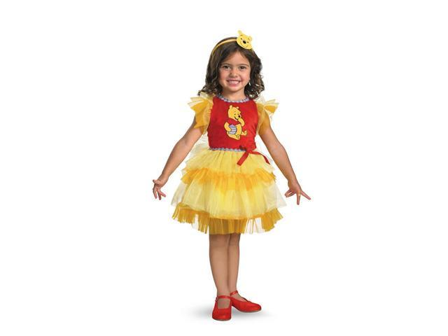 Child Frilly Winnie The Pooh Dress Costume Disguise 25641