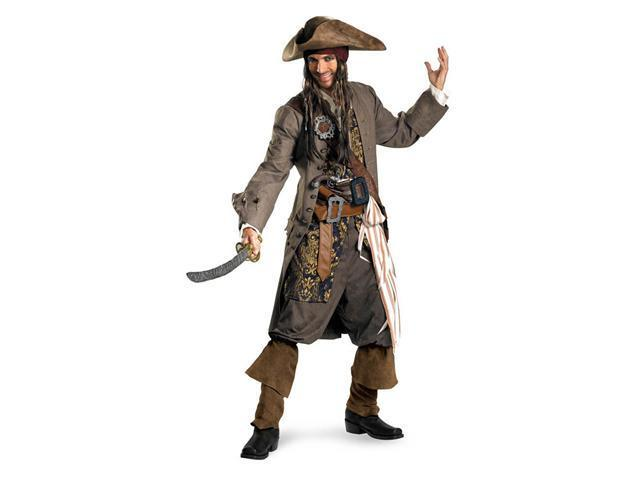 Men's Theatrical Quality Captain Jack Sparrow Costume