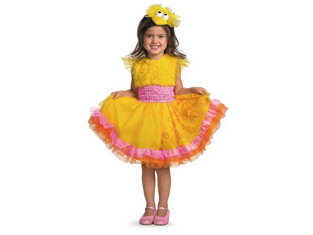Sesame Street Frilly Big Bird Dress Child Costume w/Headband